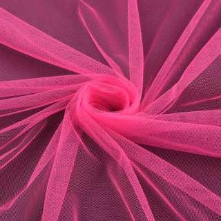 Сетка мягкая тонкая розовая яркая ш.160