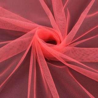 Сетка мягкая тонкая розово-оранжевая ш.150