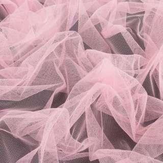 Сетка мягкая тонкая пастельно-розовая, ш.165