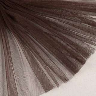 Сетка мягкая тонкая коричневая темная ш.160