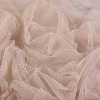Сетка мягкая тонкая бежево-розовая ш.160