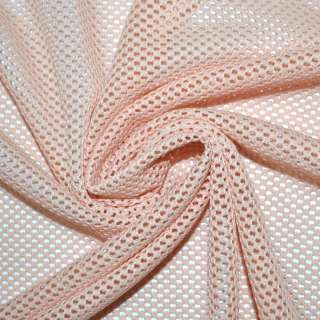 Сетка трикотажная соты розово-персиковая ш.160