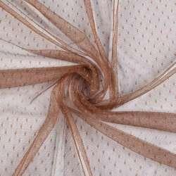 Сетка мушка мелкая коричневая светлая, ш.165
