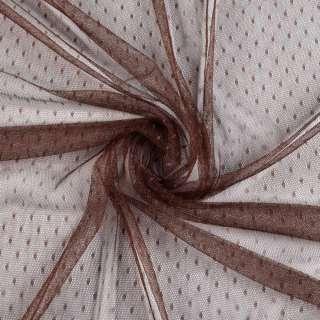 Сетка мушка мелкая коричневая темная, ш.150