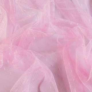 Сетка мушка мелкая розовая, ш.160