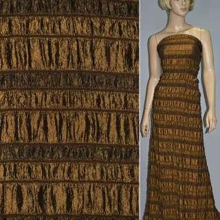 Тафта коричневая светлая со стрейч резинкой