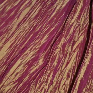 Тафта тисне коричнева з бордовим відливом ш.130