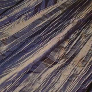 Тафта жатая синяя с желтым отливом ш.130