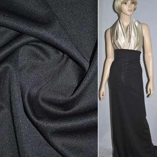 Трикотаж костюмний чорний (щільний) ш.160