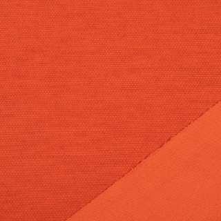 Трикотаж костюмный двухсторонний оранжево-красный, ш.150