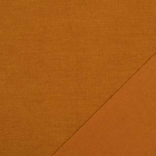 Трикотаж костюмний двосторонній оранжево-коричневий, ш.150