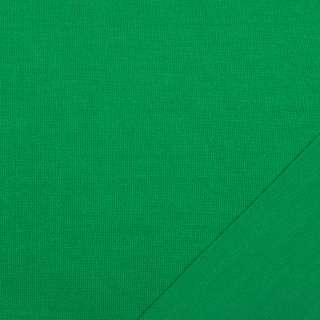 Трикотаж костюмний двосторонній зелений яскравий, ш.150