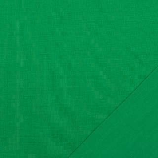 Трикотаж костюмный двухсторонний зеленый яркий, ш.150