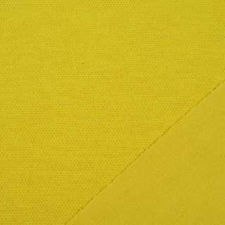 Трикотаж костюмный двухсторонний горчично-желтый, ш.150