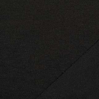 Трикотаж костюмний двосторонній чорний, ш.150