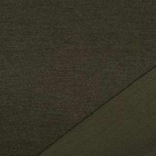 Трикотаж костюмный двухсторонний хаки, ш.150