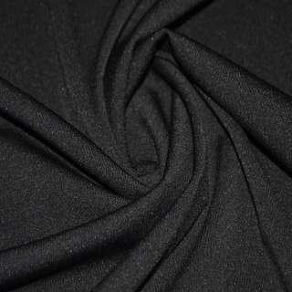 Трикотаж костюмный облегченный черный ш.160