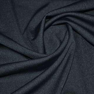 Трикотаж костюмный облегченный темно синий ш.160