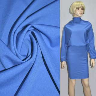 Трикотаж костюмный облегченный светло синий ш.160