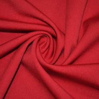 Трикотаж костюмный стрейч облегченный красный ш.160