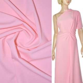 Трикотаж костюмный стрейч облегченный розовый ш.160