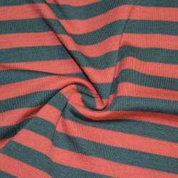 Трикотаж красный в серые полоски ш.172