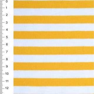 Трикотаж белый в желтые полоски ш.174