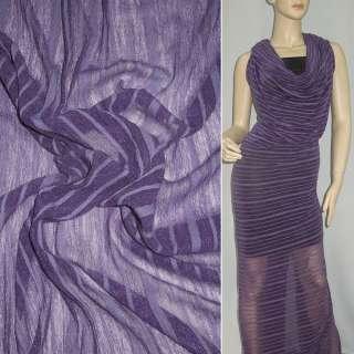 Трикотаж фіолетовий світлий в фіолетову смужку ш.160