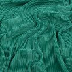 Трикотаж гофре зелений ш.160 (продається в натягнутому вигляді)