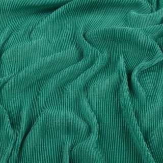 Трикотаж гофре зеленый ш.160 (продается в натян. виде)