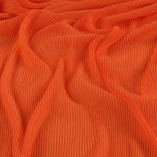 Трикотаж гофре темно оранжевый ш.160 (продается в натян. виде)