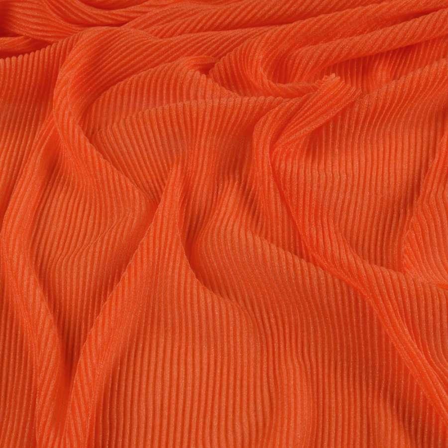 Трикотаж гофре помаранчевий темний ш.160 (продається в натягнутому вигляді)