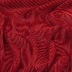 Трикотаж гофре червоний ш.160 (продається в натягнутому вигляді)