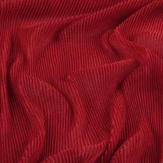 Трикотаж гофре красный ш.160 (продается в натян. виде)