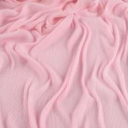 Трикотаж гофре рожевий блідий ш.160 (продається в натягнутому вигляді)