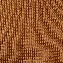 Трикотаж вязаный резинка коричневый светлый (чулок), ш.170