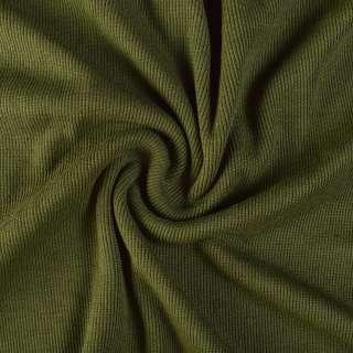 Резинка манжетная (рукав) зеленая оливковая темная (хаки) ш.110