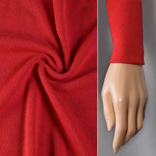 Резинка манжетная (рукав) алая ш.124