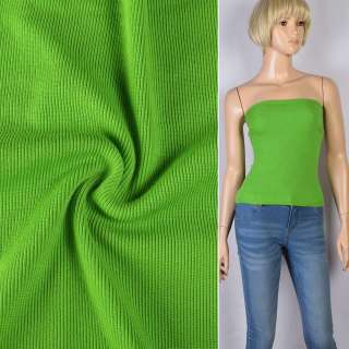 Резинка манжетная (рукав) зеленая лайм ш.110