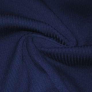 Трикотажное полотно резинка (манжет) синее ш.70