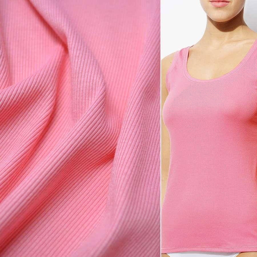 Трикотажна резинка рожева світла ш.130