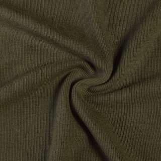 Трикотажное полотно резинка хаки, ш.110