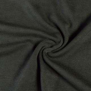 Трикотажное полотно резинка серо-зеленое темное, ш.110