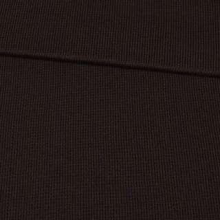 Трикотажное полотно резинка коричневое темное, ш.80