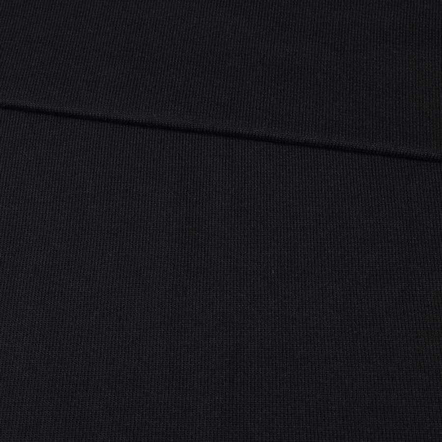 Трикотажное полотно резинка черное, ш.80