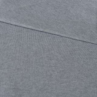 Трикотажное полотно резинка серое ш.80