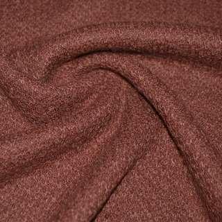 Трикотаж вязаный двухсторонний акриловый коричнево красный ш.170