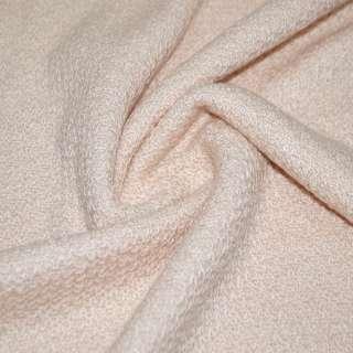 Трикотаж вязаный двухсторонний акриловый розовато персиковый ш.165