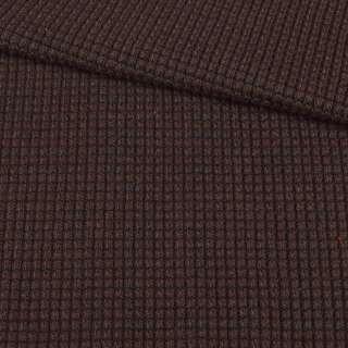 Трикотаж вязаный букле коричневый, ш.132