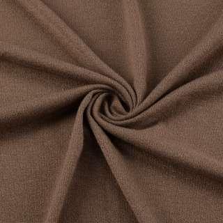Трикотаж акриловый молочный шоколад ш.170